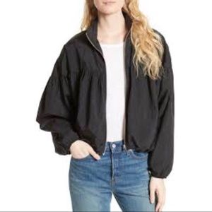 Free People Black Balloon Bomber Jacket Small